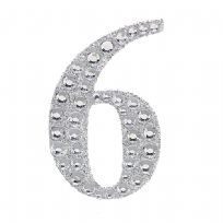 Sparkling Gemstone & Glitter Number 6 Sticker